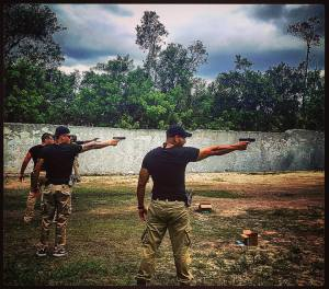 These photos are from the firearms training phase of our last close protection / bodyguard training course in South Florida...